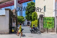 里斯本,葡萄牙- 2917 5月20, :非常普遍的艺术中心LX Fac 免版税库存照片