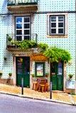 里斯本,葡萄牙- 05 13 2016年:门面和入口对一点 免版税库存照片