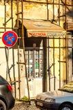 里斯本,葡萄牙- Septmember 19日2016年:在Viewpoint de圣诞老人Luzia附近的街道 图库摄影