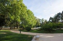 里斯本,里斯本,葡萄牙,圣克拉拉公园在城市的东部区域 库存图片