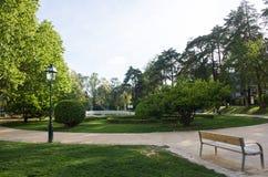 里斯本,里斯本,葡萄牙,圣克拉拉公园在城市的东部区域 免版税库存图片