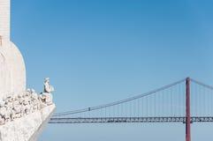 里斯本-对发现的纪念碑 免版税图库摄影