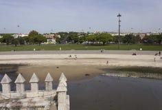 里斯本贝拉母公园概要 免版税库存图片