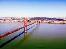 里斯本4月25日桥梁 免版税图库摄影