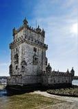 里斯本Torre de贝拉母 库存照片