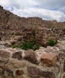 派里斯泰拉岛堡垒的墙壁和人工制品在保加利亚 图库摄影