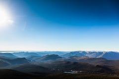 里查森山上面在加斯佩国家公园在魁北克, 免版税库存照片