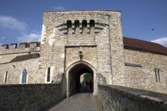 里氏古堡,英国 库存图片