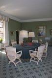 里氏古堡Baillie夫人的室 库存照片
