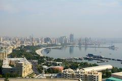 里海海岸,巴库,阿塞拜疆 免版税图库摄影