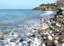 里海的海滩 库存图片