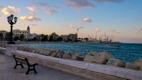 巴里海边(普利亚,意大利) 免版税库存照片