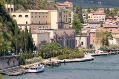 里瓦德尔加尔达,特伦托,意大利的水力发电站 库存图片