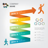 里程碑和时间安排infographic螺旋题材 免版税图库摄影