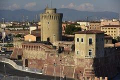里窝那,意大利老堡垒  库存照片