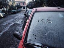 里米尼冬天意大利 免版税库存图片