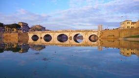 里米尼罗马桥梁 股票视频