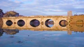 里米尼罗马桥梁 股票录像