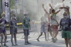 里米尼颜色奔跑的职员和赛跑者  免版税图库摄影