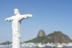 里约基督救世主糖面包山 图库摄影