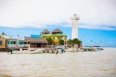 里约拉加托斯镇在尤加坦,墨西哥 库存照片
