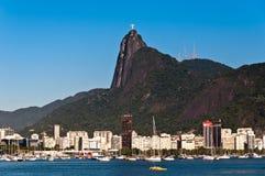 里约热内卢和Corcovado山 免版税库存照片