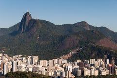 里约热内卢和Corcovado山 免版税库存图片