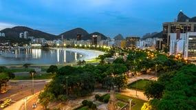 里约热内卢夜 免版税库存照片