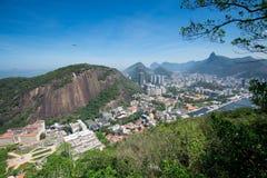 里约热内卢市和山鸟瞰图  库存图片