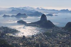 里约热内卢市地平线俯视 免版税库存图片