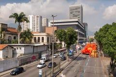 里约热内卢桑巴学校浮游物 库存图片
