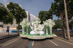 里约热内卢桑巴学校浮游物 免版税库存照片