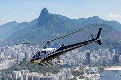 里约热内卢直升机游览 库存图片