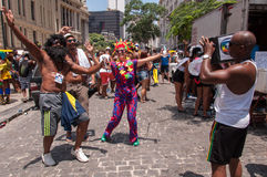 里约热内卢街狂欢节 免版税库存照片