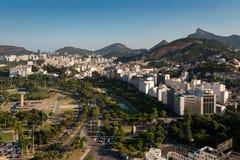 里约热内卢都市风景有Corcovado山的 库存照片