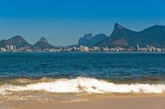 里约热内卢风景和海滩 免版税库存照片