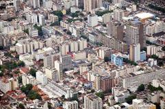 里约热内卢鸟瞰图  免版税库存照片