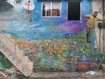 里约热内卢,巴西, 2016年11月06日:在Vidigal favela的生活 免版税库存照片