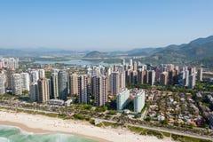 里约热内卢,巴西鸟瞰图  免版税图库摄影