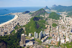 里约热内卢,巴西鸟瞰图  图库摄影