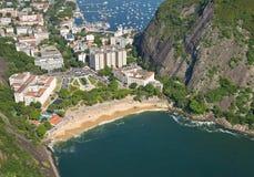 里约热内卢,巴西鸟瞰图  库存图片