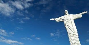 里约热内卢,巴西- 2012年5月09日:基督雕象Rede 库存照片