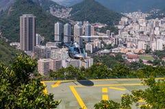 里约热内卢直升机游览 免版税库存照片
