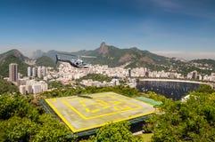 里约热内卢直升机游览 库存照片