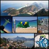 里约热内卢-拼贴画 库存照片