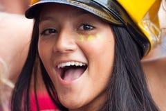 里约热内卢- 2月11 : 在自由的人民的carni的妇女乐趣 图库摄影