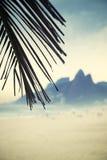 里约热内卢Ipanema海滩两兄弟山巴西 库存照片