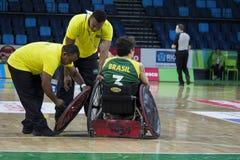 里约2016年-国际轮椅橄榄球冠军 库存照片