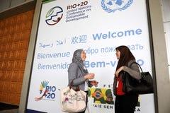 里约+ 20 -妇女外交官 免版税库存照片