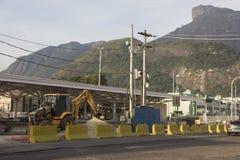 里约2016年:地铁工作也许延迟由于经济危机 免版税库存照片